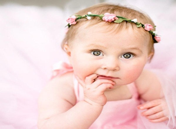 Flower Girl Crown Blush Wedding Floral Crown Pink Baby Halo